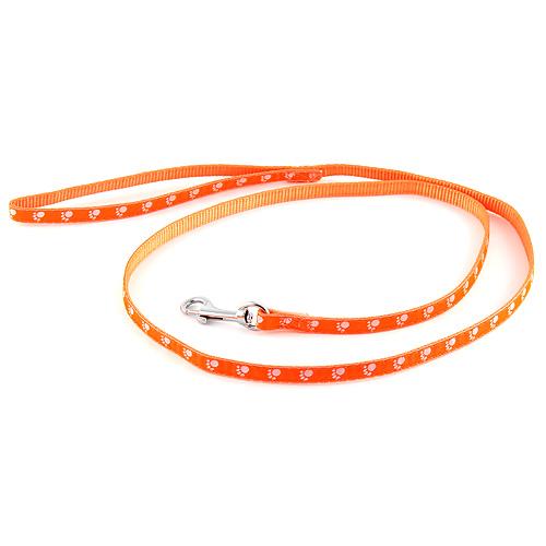 B & F Vodítko popruhové 1,2m 1,0x120cm oranžové tlapky