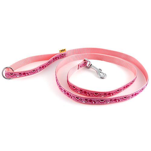 B & F Vodítko popruhové 1,5m 2,0x150cm růžové bublinky