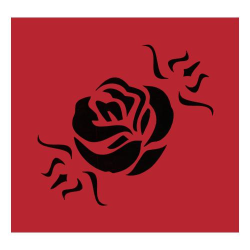 Samolepicí šablona Eulenspiegel Samolepící šablony - Květ růže