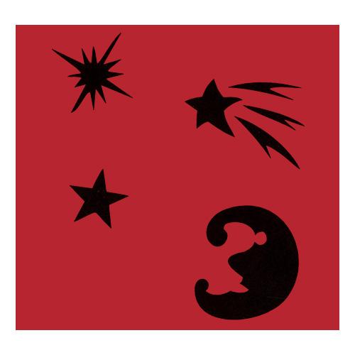 Samolepicí šablona Eulenspiegel Samolepící šablony sady - Sada noční obloha