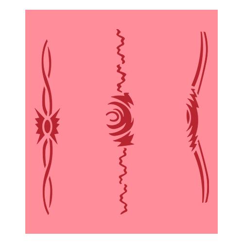Eulenspiegel Airbrush šablona Airbrush šablony - Pásy se vzorem IV