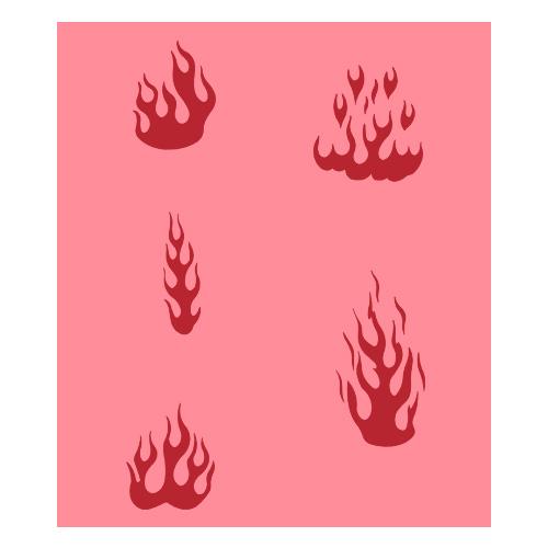 Eulenspiegel Airbrush šablona Airbrush šablony - Plameny I