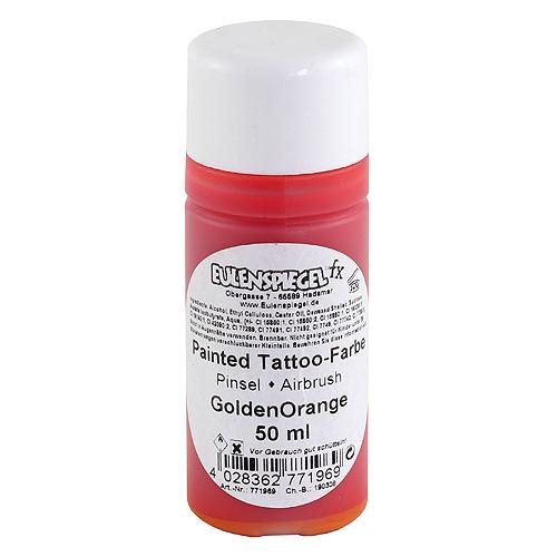 Airbrush tetovací barva Eulenspiegel Airbrush tetovací barva 50ml - Zlatě oranžová