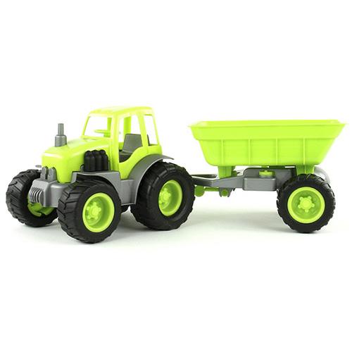 Traktor s přívěsem Bino zelený