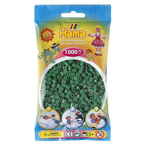 Hama Korálky zažehlovací Zelené korálky