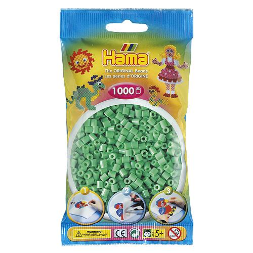 Korálky zažehlovací Hama Světle zelené korálky