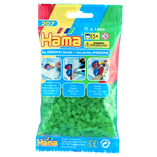 Hama Korálky zažehlovací Neonové zelené korálky