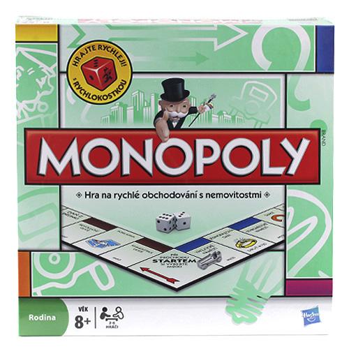Monopoly Hasbro rodinná hra pro 2-6 hráčů