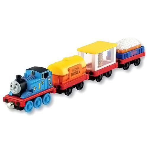 Lokomotiva s vagóny Fisher-Price Modrá lokomotiva