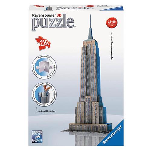 3D Puzzle Ravensburger Empire State Building, 216 dílků