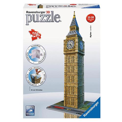 3D Puzzle Ravensburger Big Ben, 216 dílků