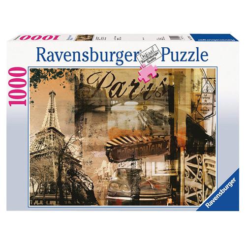 Puzzle Ravensburger Nostalgická Paříž, 1000 dílků