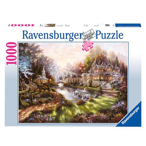 Puzzle Ravensburger Ranní zámecká zahrada, 1000 dílků