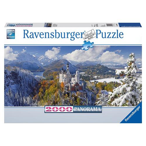 Ravensburger Puzzle panorama 2000 dílků Neuschwanstein