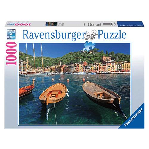 Puzzle Ravensburger Italský přístav v Portofino, 1000 dílků