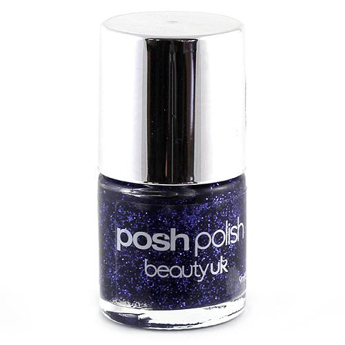 Beauty UK Třpytivý lak na nehty fialové třpytky, 9ml