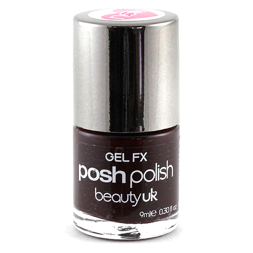 Beauty UK Lak na nehty Gel FX rouge noir, 9ml