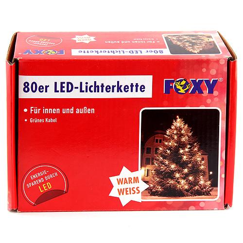 Světelný řetěz Idena vnitřní/venkovní LED, teplá bílá, 8,95m