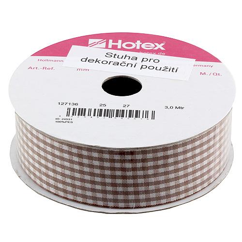 Stuha károvaná Hotex hnědo-bílá