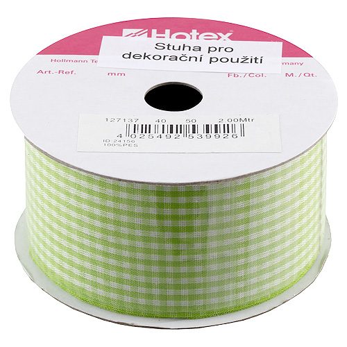 Stuha károvaná Hotex zeleno-bílá