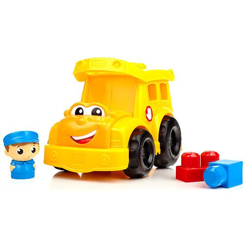 Školní autobus Mega Bloks kostky a figurka řidiče