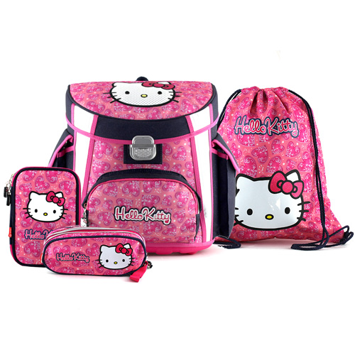Školní aktovka set Hello Kitty 4-dílný
