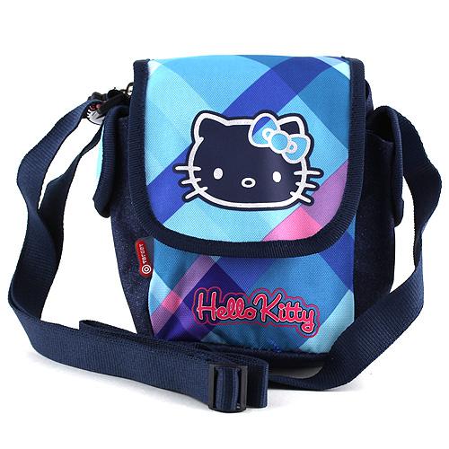 Kabelka přes rameno Hello Kitty modré kostky