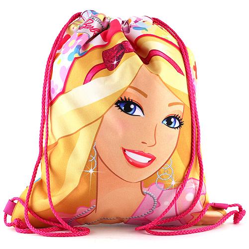Sportovní vak Barbie růžový, motiv květin