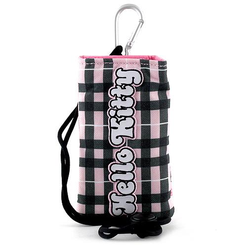 Pouzdro na mobil Hello Kitty růžovo-černé