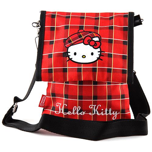 Kabelka přes rameno Hello Kitty červeno-černá