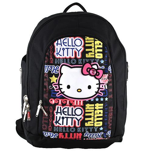 Školní batoh Hello Kitty černý s nápisy. DOPRAVA ZDARMA f65bc21c18