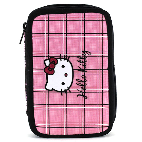 Školní penál s náplní Hello Kitty růžové kostky