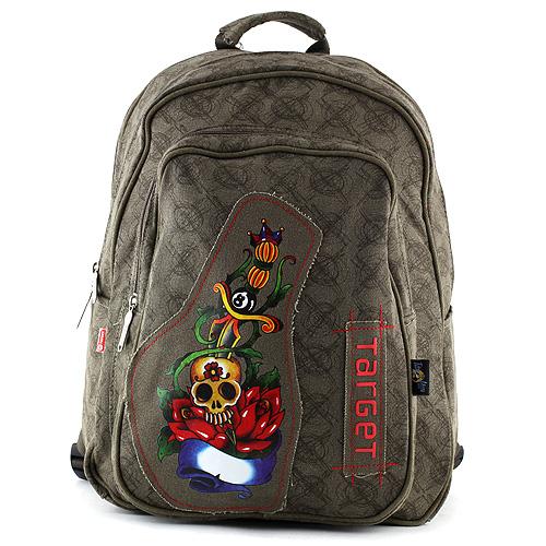 Studentský batoh Target hnědo-zelený