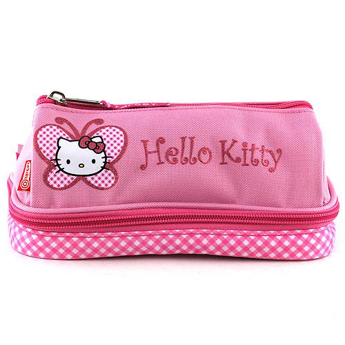 Školní penál Hello Kitty růžový