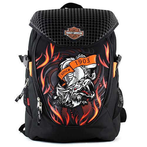 Studentský batoh Harley Davidson černý s drakem