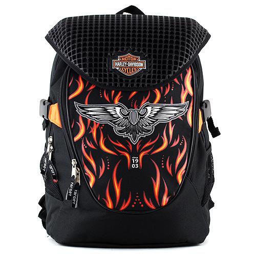 Studentský batoh Harley Davidson černý se znakem