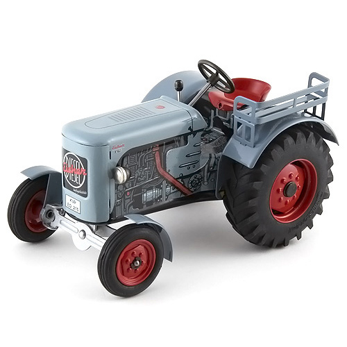 Traktor Kovap plechový, šedý