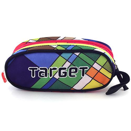 Školní penál Target Sytě barevné obdélníky