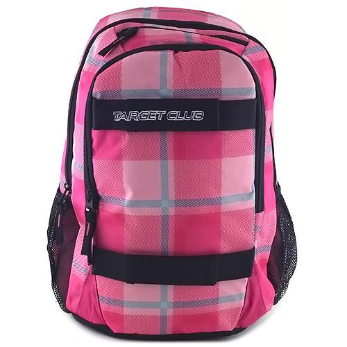 Sportovní batoh Target růžový, motiv kostky