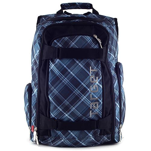 Target Sportovní batoh černo-modrý, motiv kostky