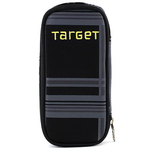 Školní penál Target Žlutý nápis, barva černá