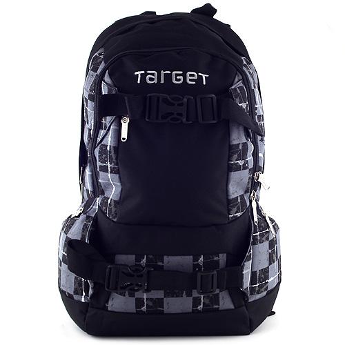 Target Sportovní batoh černo-šedý, motiv kostky