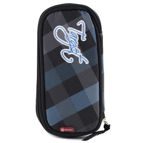 Školní penál Target modro-černé kostky