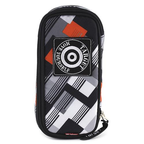 Školní penál Target černo-šedo-oranžový