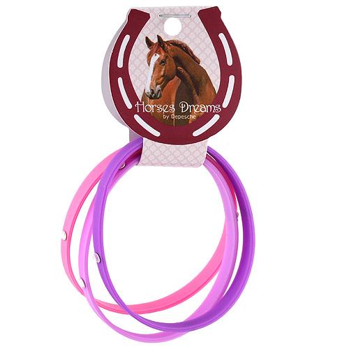 Náramky Horses Dreams růžová, tmavě fialová, fialová