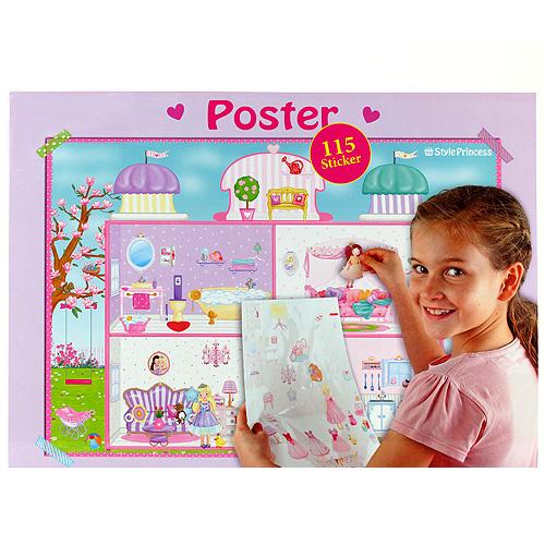 Plakát My Style Princess se samolepkami, 60x42cm
