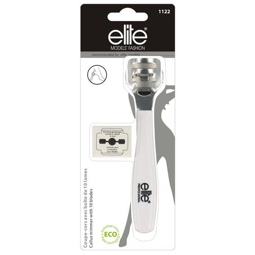 Odstraňovač ztvrdlé kůže Elite Models 10x náhradní žiletka, 14cm