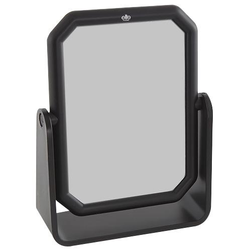 Kosmetické zrcadlo Elite Models hranaté, 10x13cm, černé