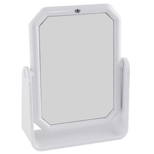 Kosmetické zrcadlo Elite Models hranaté, 13x17cm, bílé