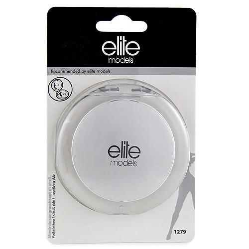 Kosmetické zrcátko Elite Models kulaté, 8cm, stříbrné